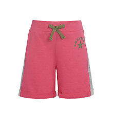 Buy Converse Girls' Turn Up Midi Shorts, Pink Online at johnlewis.com