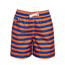 Buy Polo Ralph Lauren Boys' Traveller Swimming Shorts, Blue/Orange Online at johnlewis.com