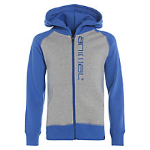 Buy Animal Children's Stolla Zip-Through Hoodie, Grey/Blue Online at johnlewis.com