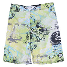 Buy Animal Children's Tristol Board Shorts, Multi Online at johnlewis.com