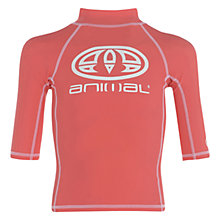 Buy Animal Boys' Hiltern Rash Vest Hibiscus Online at johnlewis.com
