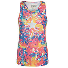 Buy Converse Girls' Print Tank Top, Pink/Multi Online at johnlewis.com