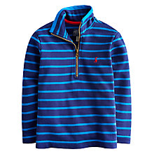 Buy Little Joule Boys' Dale Stripe Zip-Through Sweatshirt, Blue Online at johnlewis.com