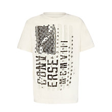 Buy Converse Boys' Painted Flag T-Shirt, White Online at johnlewis.com