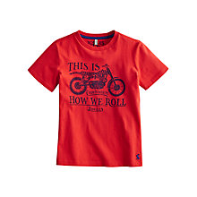 Buy Little Joule Boys' Ben Motorbike T-Shirt, Red Online at johnlewis.com