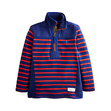 Buy Little Joule Boys' Templeton Stripe Half-Zip Sweatshirt, Navy/Red Online at johnlewis.com