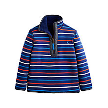 Buy Little Joule Boys' Sterwin Reversible Stripe Fleece, Blue/Multi Online at johnlewis.com