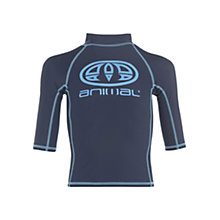 Buy Animal Boys' Hiltern Rash Vest, Indigo Online at johnlewis.com