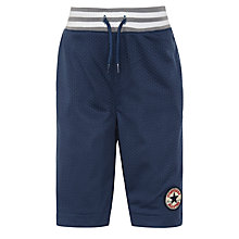 Buy Converse Children's Rib-Mesh Shorts, Navy Online at johnlewis.com
