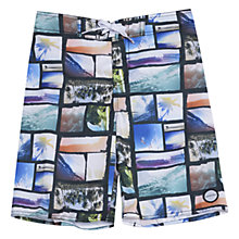 Buy Animal Boys' Timber Board Shorts, Multi Online at johnlewis.com