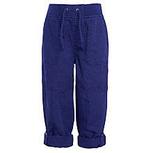 Buy John Lewis Boy Roll-Up Trousers, Navy Online at johnlewis.com