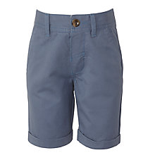Buy John Lewis Boy Turn Up Chino Shorts, Blue Online at johnlewis.com