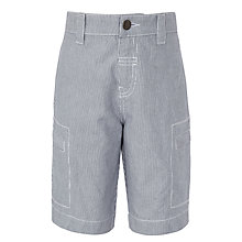 Buy John Lewis Boy Inseam Ticking Stripe Denim Shorts, Blue Online at johnlewis.com