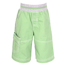 Buy John Lewis Boy Pull On Shorts, Green Online at johnlewis.com
