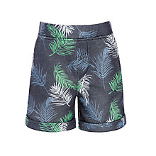 Buy John Lewis Boys Palm Print Shorts, Green/Multi Online at johnlewis.com