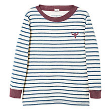 Buy Mango Kids Boys' Embroidered Striped Long Sleeved Top Online at johnlewis.com