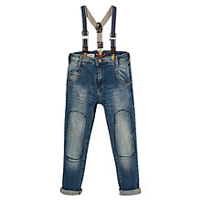 Buy Mango Kids Boys' Skinny Denim Jeans & Braces, Dark Blue Online at johnlewis.com