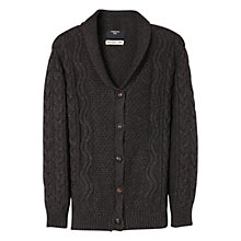 Buy Mango Kids Boys' Cable Knit Wool Blend Cardigan, Grey Online at johnlewis.com