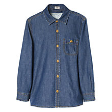 Buy Mango Kids Boys' Denim Shirt, Blue Online at johnlewis.com