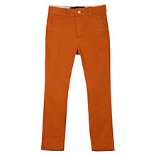 Buy Mango Kids Boys' Cotton Blend Trousers, Rust Online at johnlewis.com