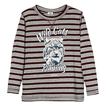 Buy Mango Kids Boys' 'Wild Cats' Striped Long Sleeve Top Online at johnlewis.com