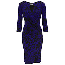 Buy Gina Bacconi Skin Print Jersey Dress, Amethyst Online at johnlewis.com