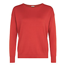 Buy Kaliko Crew Neck Jumper, Red Online at johnlewis.com