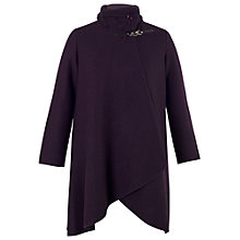 Buy Chesca Cable Collar Coat, Aubergine Online at johnlewis.com
