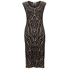 Buy Gina Bacconi Knitted Dress, Black/Beige Online at johnlewis.com