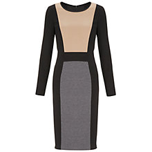 Buy Gina Bacconi Colour Block Ponte Dress, Camel Online at johnlewis.com