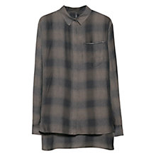 Buy Mango Check Shirt, Dark Beige Online at johnlewis.com