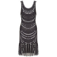 Buy Gina Bacconi Beaded Dress, Grey Online at johnlewis.com
