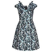 Buy Reiss Marte Fit And Flare Dress, Blue Online at johnlewis.com