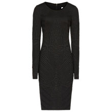Buy Reiss Ewelina Bodycon Dress, Black Online at johnlewis.com