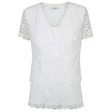Buy Kaliko Tiered Lace Top, Ivory Online at johnlewis.com