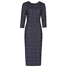 Buy Reiss Lucy Metallic Bodycon Dress, Navy Online at johnlewis.com