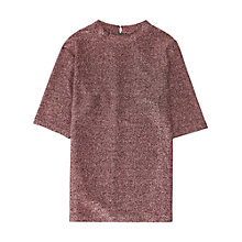 Buy Reiss Metallic Sparkle Lurex Jersey Top Online at johnlewis.com
