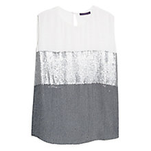 Buy Violeta by Mango Sequin Blouse, Natural White Online at johnlewis.com
