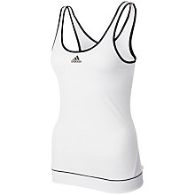 Buy Adidas Galaxy Tennis Tank Top, White/Black Online at johnlewis.com