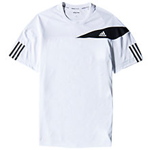 Buy Adidas Tennis Response T-Shirt, White/Black Online at johnlewis.com