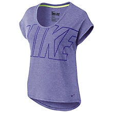Buy Nike Club Boxy Logo T-Shirt, Light Court Purple Heather Online at johnlewis.com