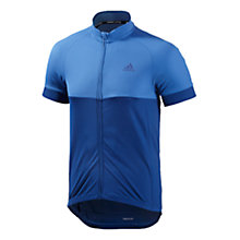 Buy Adidas Men's Cycling Response Full Zip Jersey, Bright Royal/Collegiate Blue Online at johnlewis.com