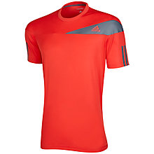 Buy Adidas Response Crew Neck Tennis T-Shirt, Red/Grey Online at johnlewis.com
