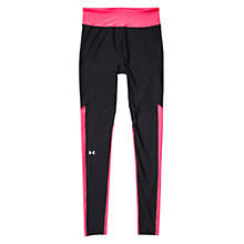 Buy Under Armour HeatGear Alpha Running Tights, Black/Pink Online at johnlewis.com