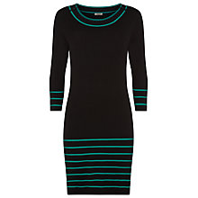 Buy Precis Petite Stripe Knit Dress, Black Online at johnlewis.com