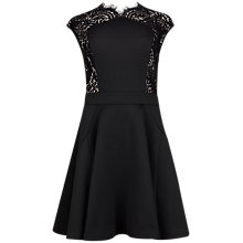 Buy Ted Baker Vivace Lace Panel Dress, Black Online at johnlewis.com