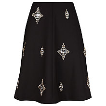 Buy Ted Baker Samya Embellished Skirt, Black Online at johnlewis.com