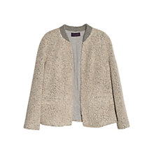 Buy Violeta by Mango Boucle Wool-Blend Jacket, Medium Grey Online at johnlewis.com