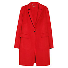 Buy Violeta by Mango Shift Wool Blend Coat, Bright Red Online at johnlewis.com