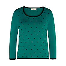 Buy Precis Petite Spot Detail Jumper, Multi Dark Online at johnlewis.com